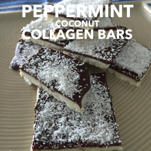 Peppermint Coconut Protein Collagen Bars